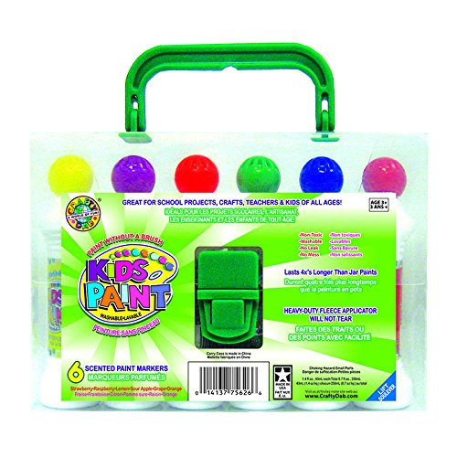 Crafty Dab Paint, 6 Pack with Carrying Case