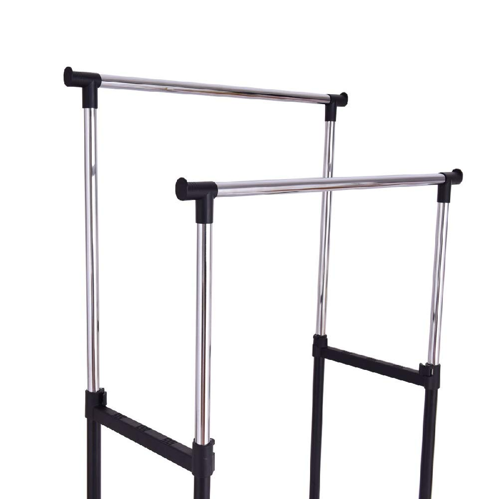 Drying Rack Towel Clothes Store Hanger Storage Stick Shelf Rolling Shelves Folding Drawers by Sgood (Image #5)