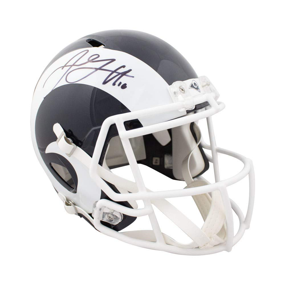 Amazon.com  Jared Goff Autographed Los Angeles Rams Speed Full Size  Football Helmet Fanatics  Sports Collectibles ff220dfb8