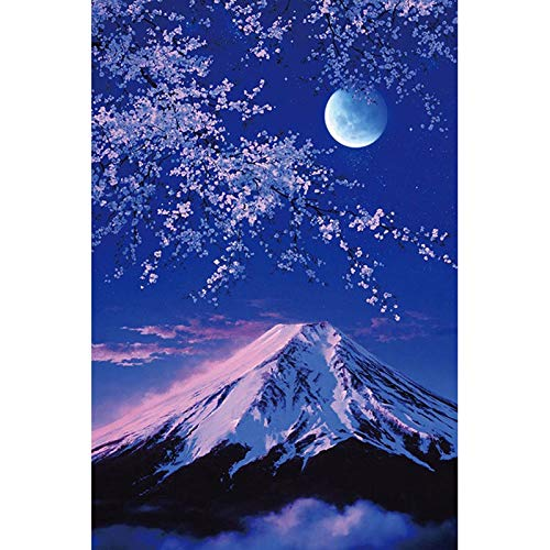 - 5D Diamond Painting Drill Wall Arts 3D Diy Diamond Embroidery With Rhinestones Cross Stitch Kit Crafts Decor- Japanese Cherry Snow Mountain(Frameless)