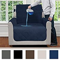 MIGHTY MONKEY Premium Water Resistant Furniture Slipcover, Suede-Like, Oeko Tex Certified, Absorbs Multiple Cups of Water, Slip Reducing Backing, Furniture Protector Cover for Kids, Dogs, Pets