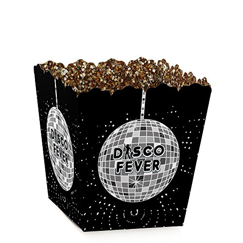 Big Dot of Happiness 70's Disco - Party Goodie Favor Boxes - 1970s Disco Fever Treat Candy Boxes - Set of 12 Disco Set