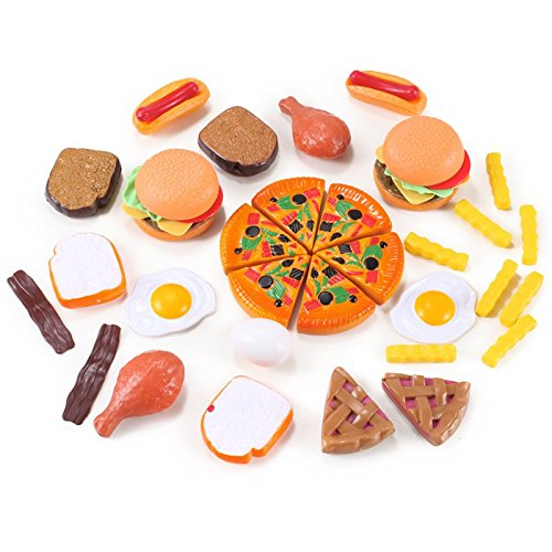 Liberty Imports 120 Piece Deluxe Pretend Play Food Assortment Set