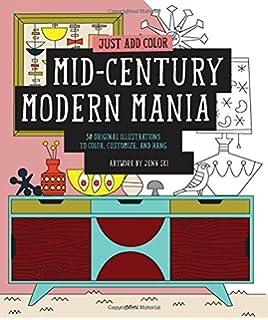 Just Add Color MidCentury Modern Patterns  Original - Midcentury modern colors