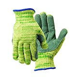 Wizard 1880LP-XL  Metalguard Mastergrip 1880LP Cut Resistant Leather Palm Gloves, Cut Level 5, XL, Green/Yellow (Pack of 12)