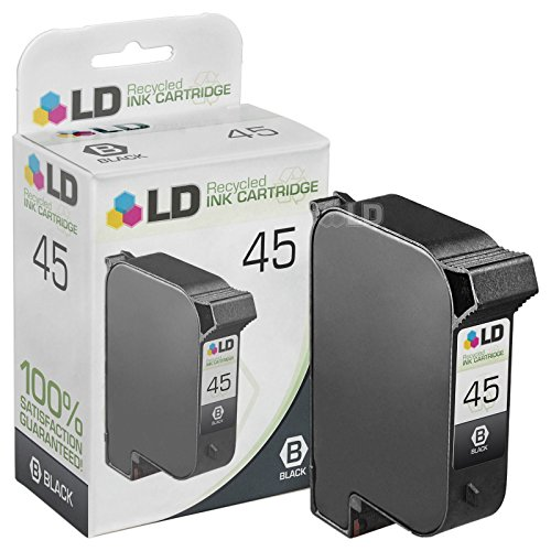 LD © Remanufactured Replacement Ink Cartridge for Hewlett Packard 51645A (HP 45) Black