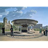 Oil painting 'Erdmann Hummel Die Granitschale im Berliner Lustgarten ' printing on polyster Canvas , 24 x 33 inch / 61 x 85 cm ,the best gift for girl friend and boy friend and Home artwork and Gifts is this High Definition Art Decorative Canvas Prints