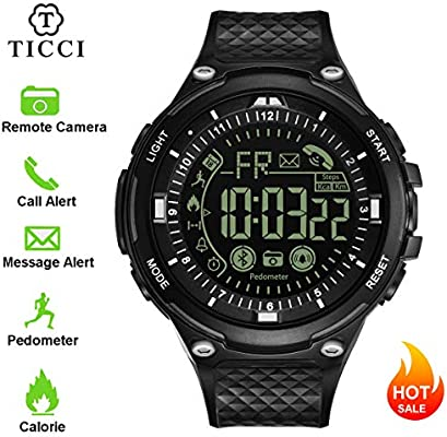 T7 Electronic Fitness Tracker Digital Sports Bluetooth Smart Watch Waterproof Pedometer Remote Camera Call or Message Alert Reminder for iOS Android ...