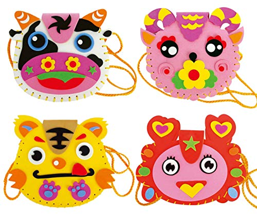 - FYZ Brothers 4 Pcs Sewing Kit for Kids Sewing & Craft Kit Kids Sewing Projects Fabric DIY Crafts Purse