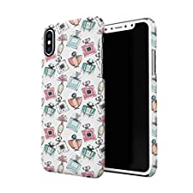 Parfume Bottless Girly Pattern Apple iPhone X Plastic Phone Protective Case Cover