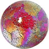 Boule en verre mosaïque Multicolore/rouge (Grand)