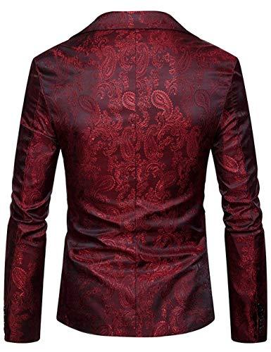 Casual Clásico De Blazer Chaqueta Corte Rot Hombre Chaquetas Haidean Modernas Sudadera Traje Ocio zqagC0wnH