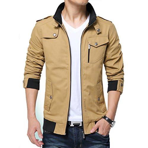 Kjdshwa Men's Long Sleeve Full Zip Lightweight Jacket