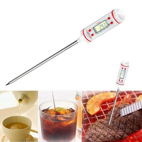 Omeny 225mm Termómetro electrónico de alimentos Temperatura líquida - Blanco
