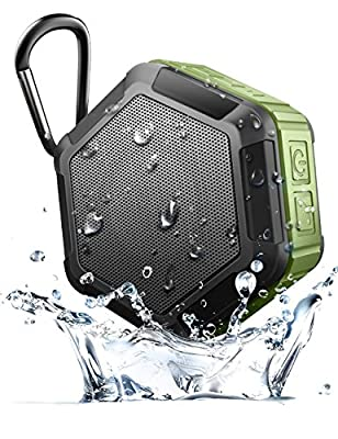 CAMTOA Outdoor Waterproof Bluetooth 4.0 Shower Speaker,Mini Portable Wireless Speaker - Sport Shower Stereo Speakers NFC Handsfree for Smart Phones