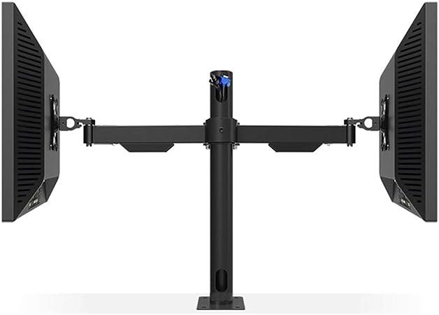 Doble Pantalla de Escritorio del Brazo del Montaje ergonómico TV LCD Monitor Soporte de inclinación Doble rotación de 19 a 27
