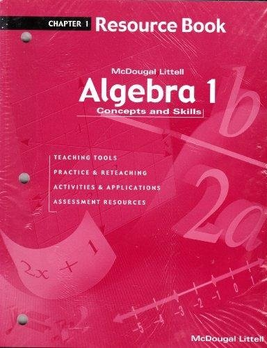 McDougal Littell Algebra 1: Resource Book: Chapter 1