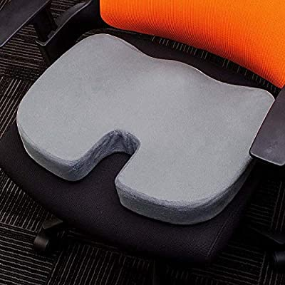 QIEZI Travel Breathable Seat Cushion Orthopedic Foam Cushion for Seat U Cushion for Massage Chair-Grey_Inner and Cover: Home & Kitchen