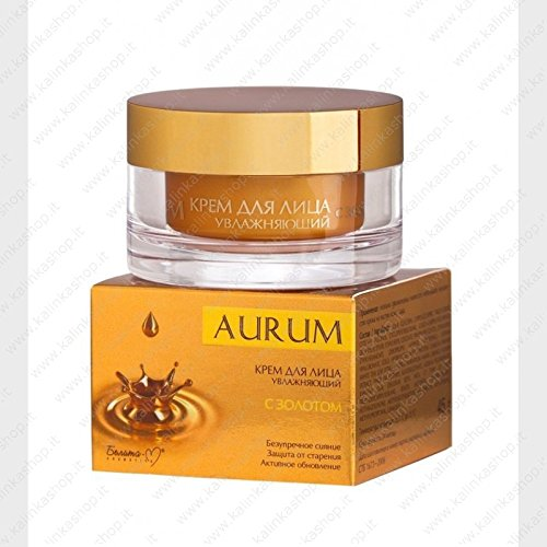 MOISTURIZING DAY CREAM FOR FACE WITH GOLD | hyaluronic acid, wheat proteins, extracts of white tea and orange blossoms, anti-wrinkle and aging 45 g (Bioactive Hyaluronic Acid Complex)