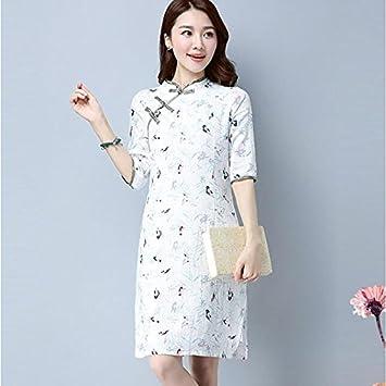 5906370ec kekafu La Mujer va Vestido de una línea Simple