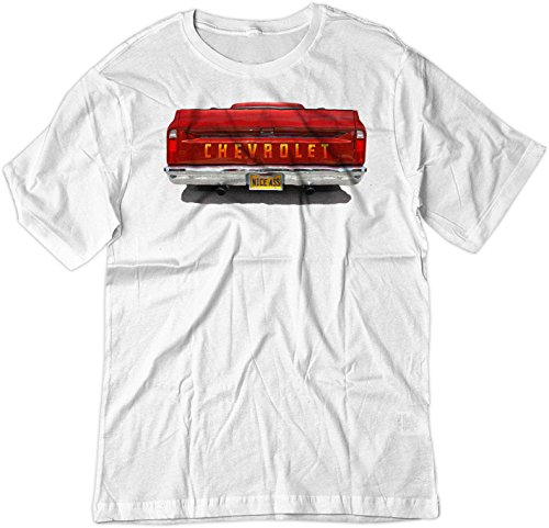 BSW Men's Nice Ass 1968 Chevrolet GMC C10 Truck American Shirt XL White