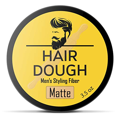 - Hair Dough Styling Clay For Men - Matte Finish Molding Hair Wax Paste - Strong Hold Without The Shine
