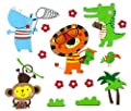 Eco-Friendly Colorful Foam 3D Kid Wall Decal Stickers Educational Sticker Decals Nursery Decor Reusable Easy to Stick Long Lasting