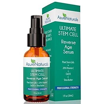 ULTIMATE REVERSE AGE Serum 20% Vitamin C + Plant Stem Cells + Tumeric + CoQ10 + Shea Butter