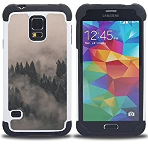 For Samsung Galaxy S5 I9600 G9009 G9008V - MISTY FOGGY FORREST Dual Layer caso de Shell HUELGA Impacto pata de cabra con im????genes gr????ficas Steam - Funny Shop -
