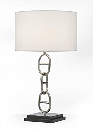 vieux port table lamp contemporary modern polished nickel desk rh amazon com