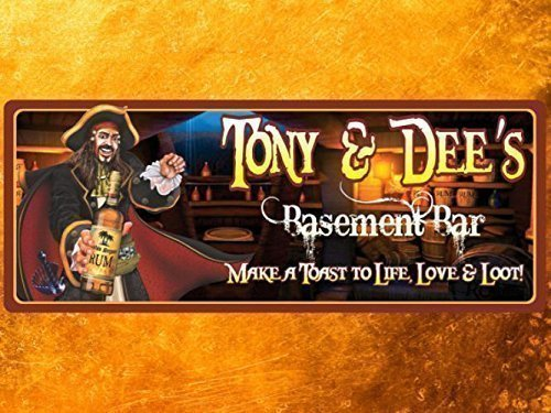 Pirate Personalized Bar Sign with Tavern & Rum, Custom Basement Bar Sign, Bar Welcome Sign with Captain Morgan (Bar Arms Contemporary)