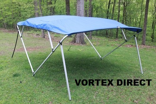 BE FRAME VORTEX 4 BOW PONTOON/DECK BOAT BIMINI TOP 10' LONG, 91-96