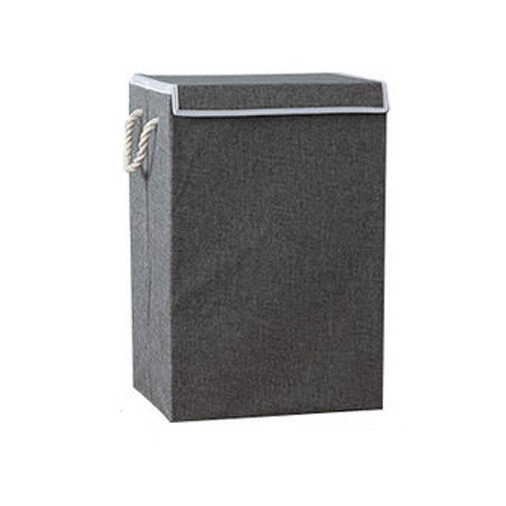 Laundry Basket 72 Liter Large Capacity Lid (Color : Gray)