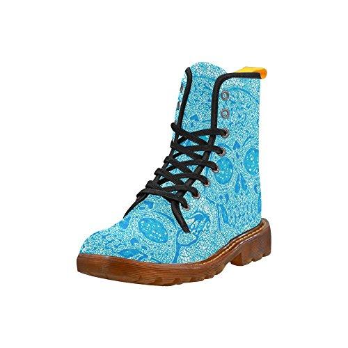 LEINTEREST mosaic skull aqua Martin Boots Fashion Shoes For Women CTnb8GFc