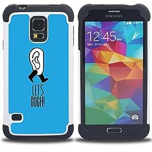 - van Gogh joke blue funny artist clever - - Doble capa caja de la armadura Defender FOR Samsung Galaxy S5 I9600 G9009 G9008V RetroCandy