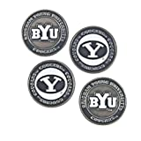 Brigham Young Cougars Double Sided BYU Golf Ball Markers (Set of 4)