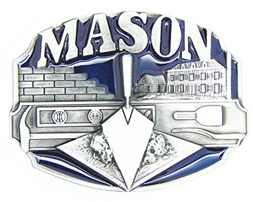 KeCol Adult Mens Masons Freemason Masonic Compass Belt Buckle