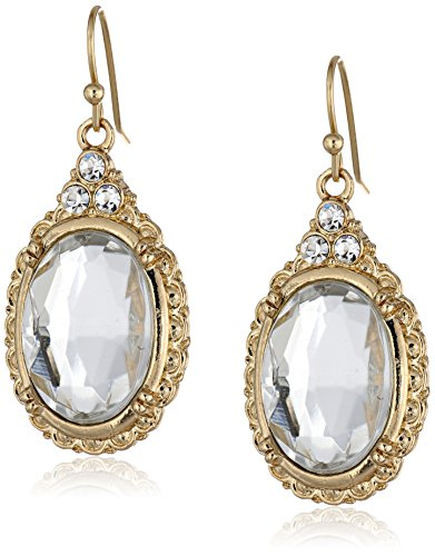 1928-Jewelry-Crystal-Oval-Drop-Earrings
