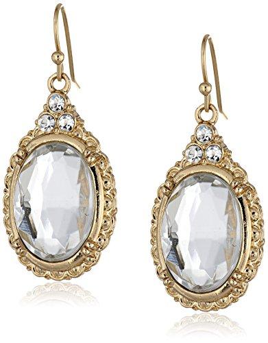 1928-Jewelry-Crystal-Oval-Drop-Earrings