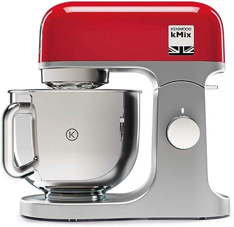Kenwood kMix KMX750RD - Robot de cocina multifunción, 1000 W, bol metálico de 5 L con asa, gancho para amasar, varillas, mezclado K, Aacero inoxidable, 6 velocidades, color rojo: Amazon.es: Hogar
