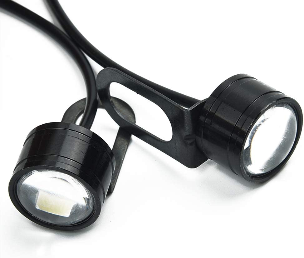 Lot de 2 phares LED pour moto 12 V 120 lm 5630 3smd avec lentille de conduite feux antibrouillard pour moto