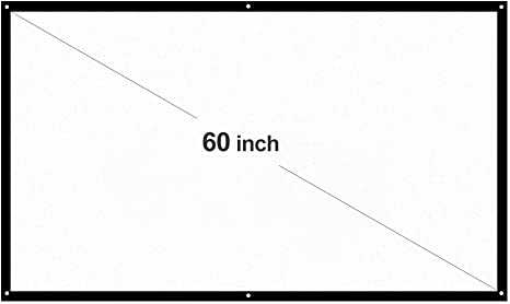 Docooler &apos H60 60 Pantalla de proyección portátil HD 16: 9 ...
