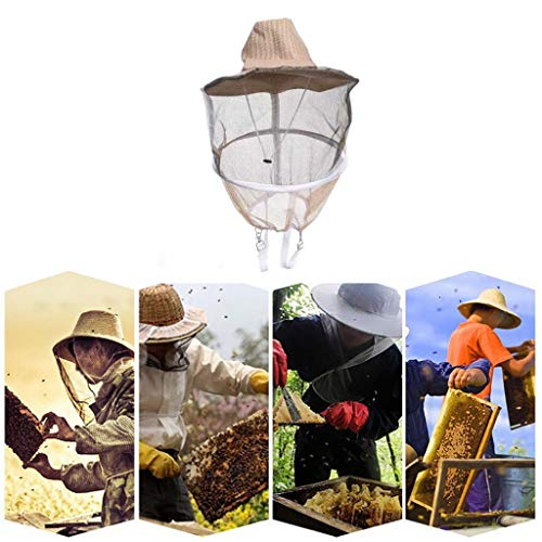 ❤️Ywoow❤️ Bee hat, Anti Bee Face Mask Hat Beekeeping Protector Cap Beekeeper Fly Insect Net Cowboy