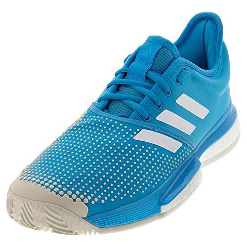 adidas Men's SoleCourt Boost Clay Shock Cyan/Footwear White/Raw White 11 D US