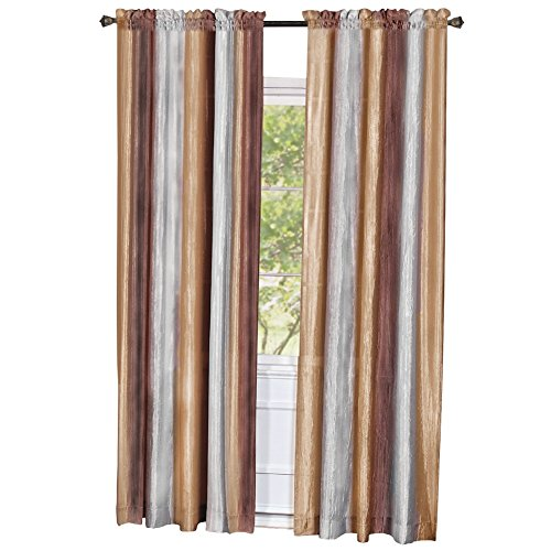 Shimmery Pocket Window Curtain Chocolate