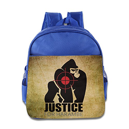 - Justice For Harambe Kids Backpack School Bag For Boys/girls RoyalBlue