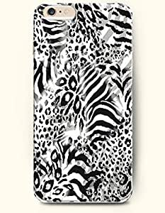 For HTC One M9 Case Cover Case with of Black And White Leopard Grain And Print - Animal Print -Authentic Skin