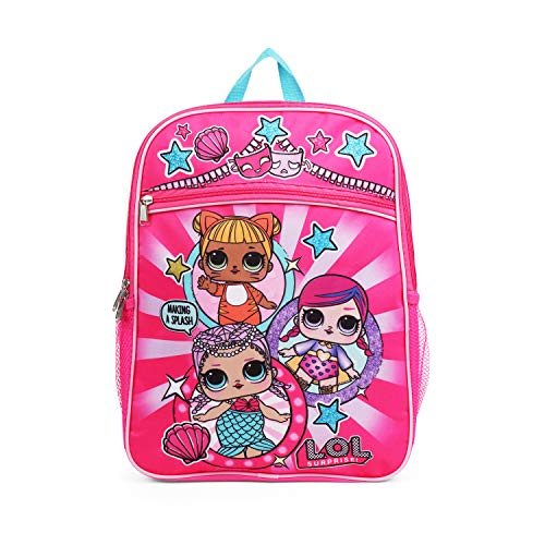"""Price comparison product image LOL Surprise! Pink and Purple 16"""" Backpack School Bag for Girls"""