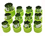 vegetable cutter kids - Cofe-BY Vegetable Cutters Shapes Set (12Pc) for Kids, Cookie Cutter Cheese Presses, Mini Flower Star Cartoon Animals Fruit Mold Heart Stamps Decorating Tools for Food Making Cute Cutouts Cooking Tips