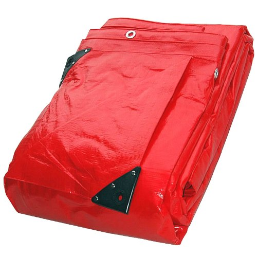 3.6M x 6.0M SUPER RED WATERPROOF TARPAULIN SHEET TARP COVER WITH EYELETS Gardener's Dream Ltd